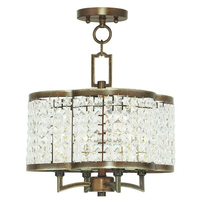 Rickmansworth 4-Light Crystal Chandelier Finish: Palacial Bronze