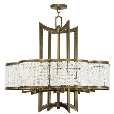 Rickmansworth 8-Light Crystal Chandelier Finish: Palacial Bronze