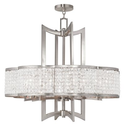 Wetzel 8-Light Crystal Chandelier Finish: Brushed Nickel