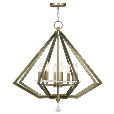 Estee 8-Light Foyer Pendant Finish: Antique Brass
