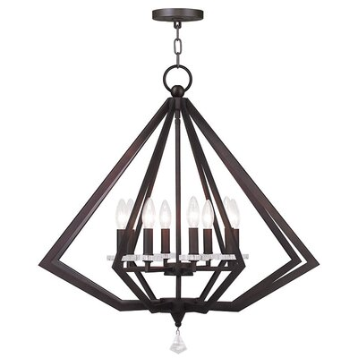 Estee 8-Light Foyer Pendant Finish: Bronze