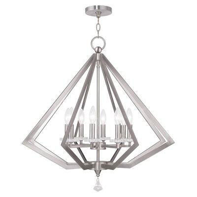 Estee 8-Light Foyer Pendant Finish: Brushed Nickel