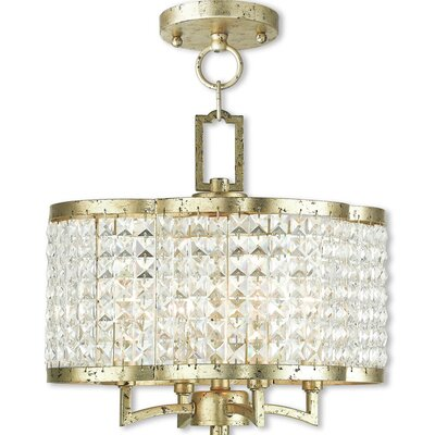 Wetzel 4-Light Crystal Chandelier