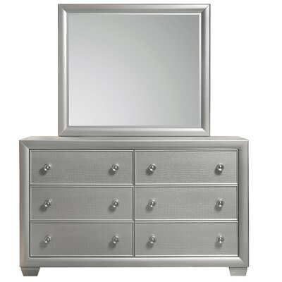 Brinkworth 6 Drawer Dresser with Mirror