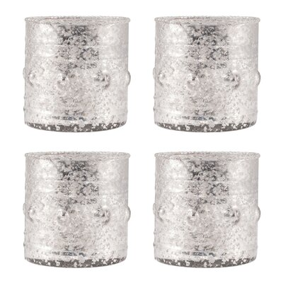 4 Piece Glass Votive Set