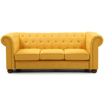 Katherina Chesterfield Sofa Upholstery: Yellow