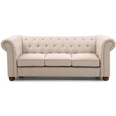 Katherina Chesterfield Sofa Upholstery: Tan