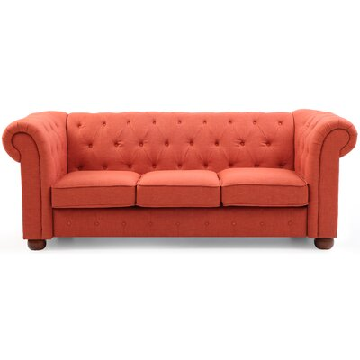 Katherina Chesterfield Sofa Upholstery: Orange