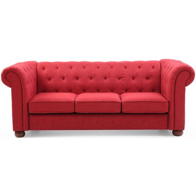Katherina Chesterfield Sofa Upholstery: Red