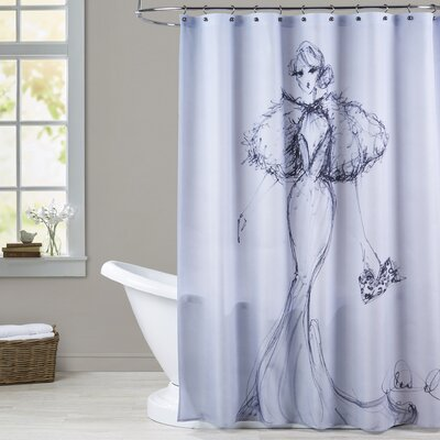 Mountain Home Leopard Clutch Shower Curtain
