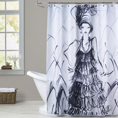 Zora Speak Easy Shower Curtain