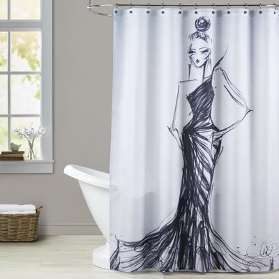 Adele Bird of Paradise Shower Curtain