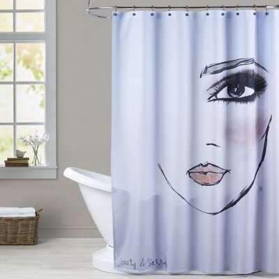 Lidia MaybellineNY SmokyandSassy Shower Curtain