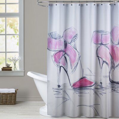 Beulah Pink Bows Shower Curtain