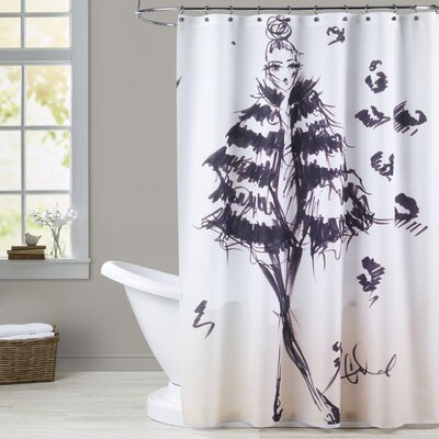 Medora Fierce in Fur Shower Curtain