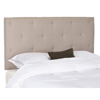 Orpington Upholstered Panel Headboard Upholstery: Beige, Size: Queen