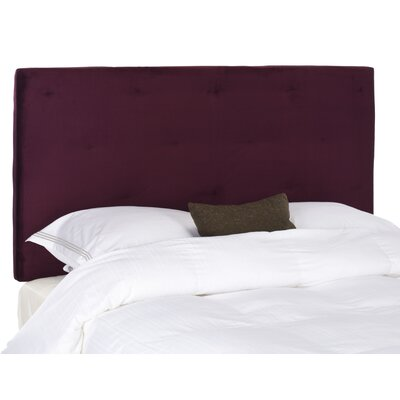 Orpington Upholstered Panel Headboard Upholstery: Eggplant, Size: Queen