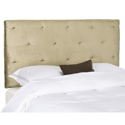 Orpington Upholstered Panel Headboard Size: Full, Upholstery: Olive Green