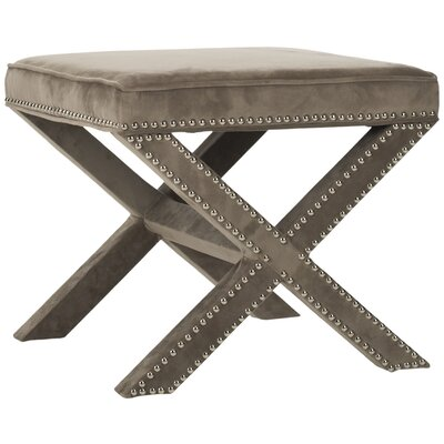Morrison Square Ottoman Upholstery: Mushroom Taupe
