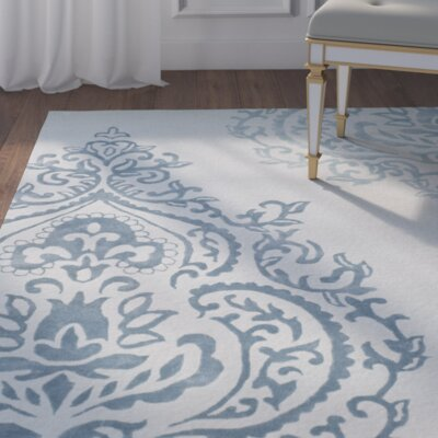 Janson Hand-Tufted Light Blue / Dark Blue Area Rug Rug Size: Runner 23 x 8