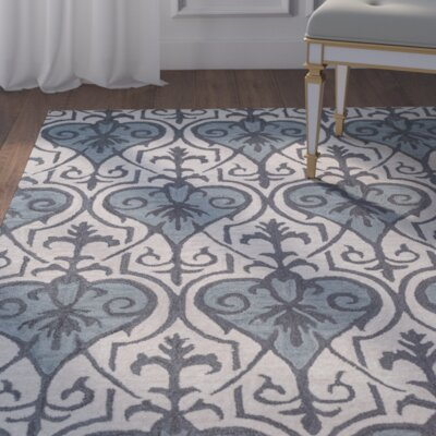 Doobay Hand-Tufted Blue Area Rug Rug Size: Runner 26 x 8