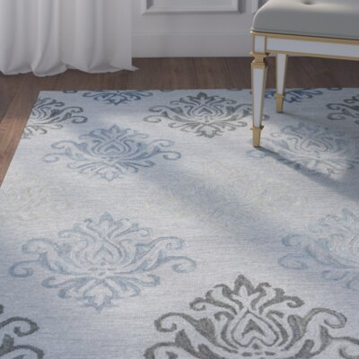 Ilfracombe Hand-Tufted Gray Area Rug Rug Size: Runner 26 x 8