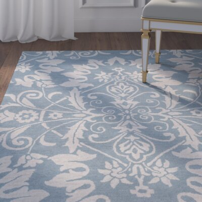 Doss Hand-Tufted Light Blue Area Rug Rug Size: Runner 2'6