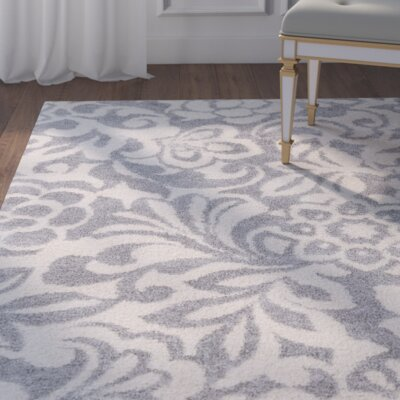 Baron Gray/Ivory Area Rug Rug Size: 2' x 3'