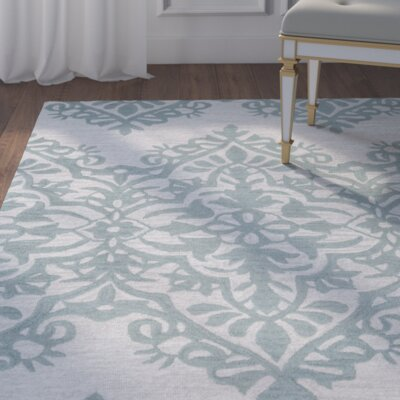 Ludlow Hand-Tufted Green/Gray Area Rug Rug Size: Runner 26 x 8
