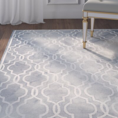 Emestina Hand-Tufted Gray/Ivory Area Rug Rug Size: Rectangle 9 x 12