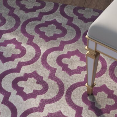 Manorhaven Light Gray/Purple Area Rug Rug Size: 3 x 5