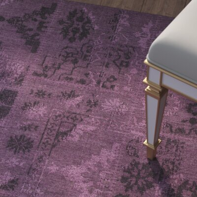 Chipping Ongar Black/Purple Area Rug