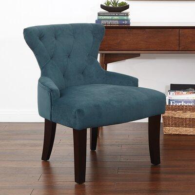 Feldman Upholstered Slipper Chair Upholstery: Azure Velvet