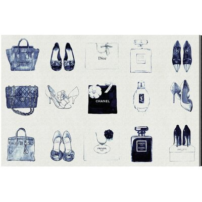 Fashion Chart Pen Notes Graphic Art on Wrapped Canvas Size: 10