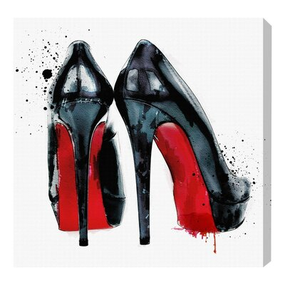 Red Soles Painting Print on Wrapped Canvas Size: 12