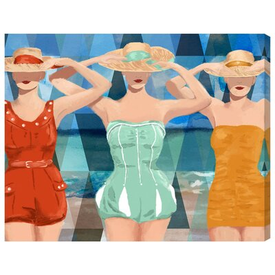 Swimming Beauties Painting Print on Wrapped Canvas