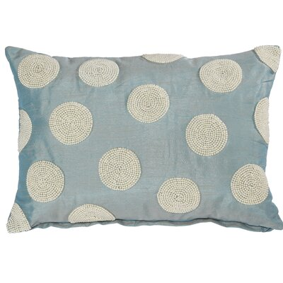 Wingfield Faux Pearl Embellished Lumbar Pillow (Set of 2) Color: Blue