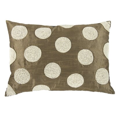 Wingfield Faux Pearl Embellished Lumbar Pillow (Set of 2) Color: Brown