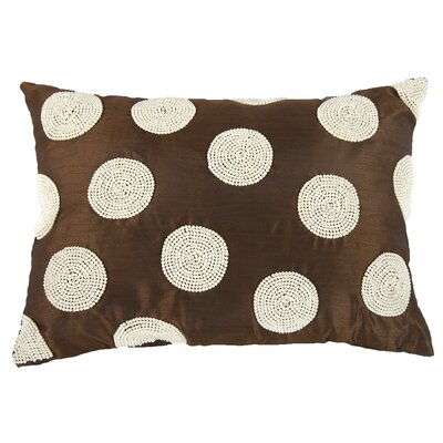 Wingfield Faux Pearl Embellished Lumbar Pillow (Set of 2) Color: Copper