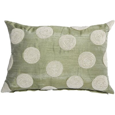 Wingfield Faux Pearl Embellished Lumbar Pillow (Set of 2) Color: Green