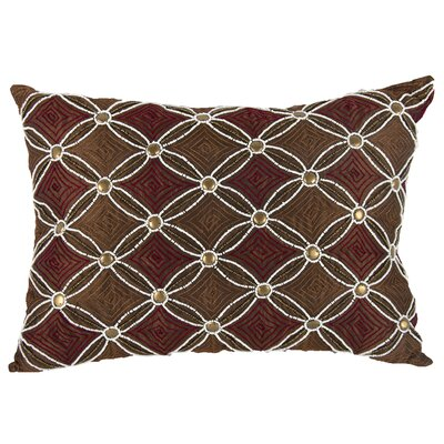 Wise Embellished Lumbar Pillow (Set of 2) Color: Copper