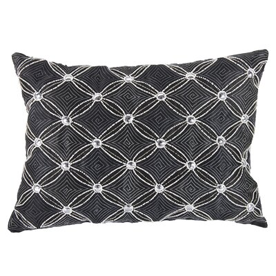 Wise Embellished Lumbar Pillow (Set of 2) Color: Gray
