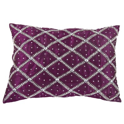 Jaffe Rhinestone Lumbar Pillow (Set of 2) Color: Fuchsia