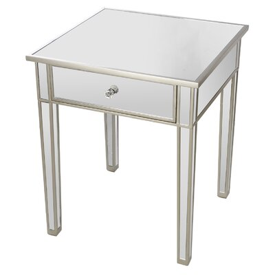 Wanger End Table Finish: Silver/Black