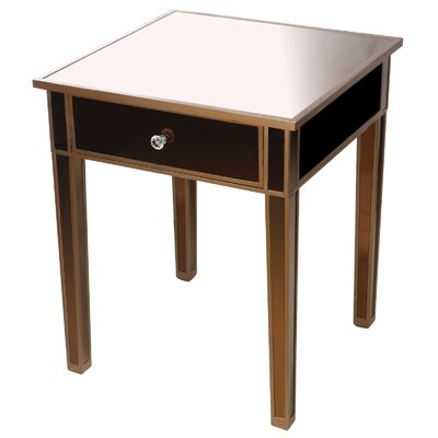 Wanger End Table Finish: Brown/Black