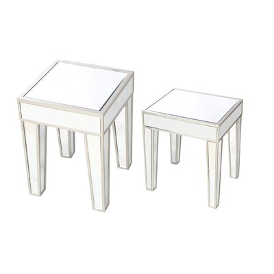 Wanger 2 Piece Nesting Tables Color: White