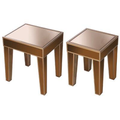 Wanger 2 Piece Nesting Tables Color: Brown