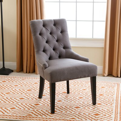 Lailah Side Chair Upholstery: Gray