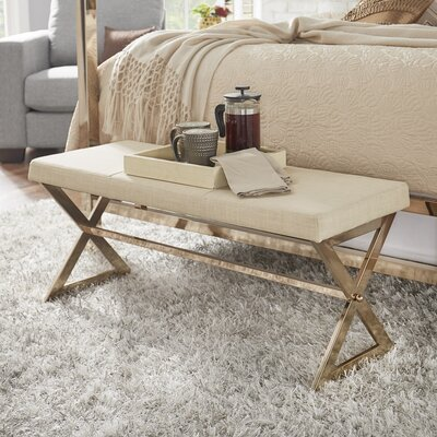 Bolderberg Upholstered Bedroom Bench Color: Beige