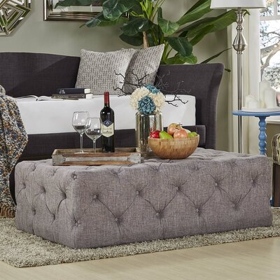 Laudalino Rectangular Tufted Cocktail Ottoman Upholstery: Gray